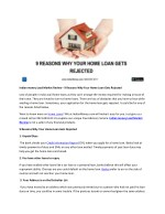 Indian money Lead Market Review - 9 Reasons Why Your Home Loan Gets Rejected