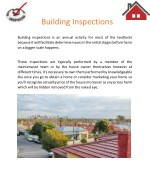 Building Inspections | Licence & Independent Building Inspection Service