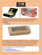 Bakery boxes  printing services