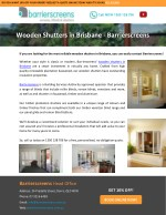 Wooden Shutters in Brisbane – Barrierscreens