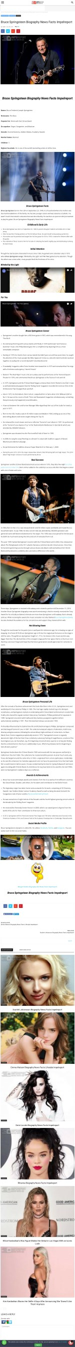 Bruce Springsteen Biography News Facts Impelreport