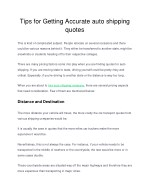 Tips for getting accurate auto shipping quotes