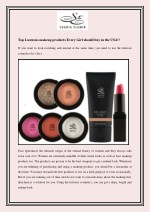 Top Lustrous makeup products Every Girl should buy in the USA!!