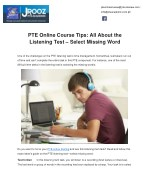 PTE Online Course Tips: All About the Listening Test – Select Missing Word