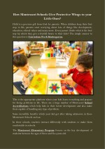 How Montessori Schools Give Protective Wings to your Little Ones?