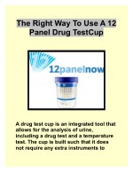 The Right Way To Use A 12 Panel Drug Test Cup
