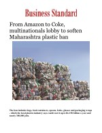 Amazon, H&M and other multinationals pressing to soften Maharashtra's plastic ban