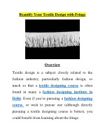 Beautify Your Textile With Fringe