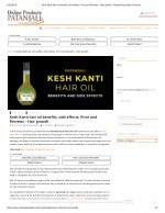 Kesh Kanti hair oil benefits, side effects, Price and Reviews - Hair growth