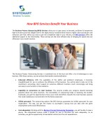 Business Porcess Outsourcing Services