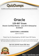 1Z0-807 Exam Dumps - Pass with 1Z0-807 Dumps PDF