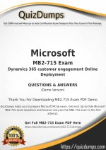 MB2-715 Exam Dumps - Pass with MB2-715 Dumps PDF
