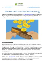 Check if Your Business needs Blockchain Technology