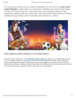 What filters to use to find the best online casino