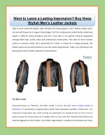 Want to Leave a Lasting Impression? Buy these Stylish Men's Leather Jackets