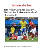 Fifa World Cup 2018 Brazil vs Mexico: Samba boys train ahead of knockouts