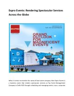 Expro Events: Rendering Spectacular Services Across the Globe