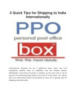 5 Quick Tips for Shipping to India Internationally