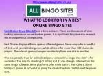WHAT TO LOOK FOR IN A BEST ONLINE BINGO SITES