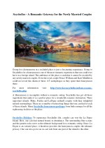 Seychelles - A Romantic Getaway for the Newly Married Couples