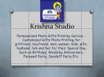 Krishna Studio-Personalized Photo Gifts for Mugs,Calender,Pillows, Tshirts