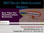 SEO tips for multi-location business