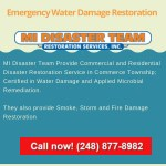 Water Damage Restoration Commerce Township