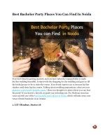 Best Bachelor Party Places You Can Find In Noida
