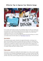 Effective Tips to Improve Your Website Design