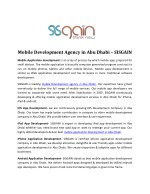 Best Mobile Application development in Abu Dhabi |SISGAIN