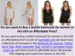 Do you want to Buy a Stylish Swimsuits for women in the USA on Affordable Price?