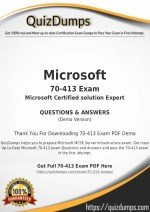 70-413 Exam Dumps - Download 70-413 Dumps PDF [2018]