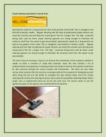 Carpet cleaning requirements in recent times