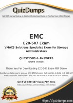 E20-507 Exam Dumps - Preparation with E20-507 Dumps PDF [2018]