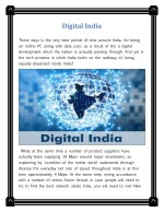 New Digital Revolution - India