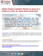 Global Project Logistics Market to grow at a CAGR of 2.43% by 2018-2022.2018-2022