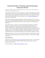 PropertyNow Offers To Sell House And Advertise Rental Property For Flat Fee