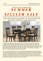 THE ULTIMATE GUIDE TO SOLID WOOD DINING TABLES AND CHAIRS