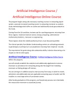 Artificial Intelligence Course | Artificial Intelligence Course Online