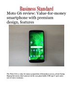 Moto G6 review: Value-for-money smartphone with premium design, features