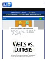 WHY LIGHT OUTPUT SHOULD BE MEASURED IN LUMENS & NOT WATTS