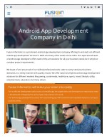 Android Application Development Companies Delhi