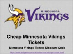 Cheap Minnesota Vikings 2018 Tickets | Minnesota Vikings Tickets Discount Coupon