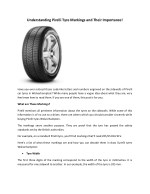 Understanding Pirelli Tyre Markings and Their Importance!