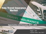 Italy Travel Insurance Market Expected to Reach $590 Million by 2023