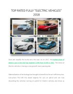 """TOP RATED FULLY """"ELECTRIC VEHICLES"""" 2018"""