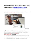 Adobe Project Rush