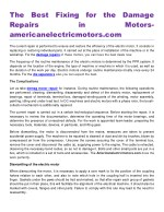 The Best Fixing for the Damage Repairs in Motors americanelectricmotors.com