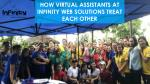 How Virtual Assistants at Infinity Web Solutions treat each other