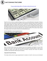 Favourable Benefits of Labuan Bank Account